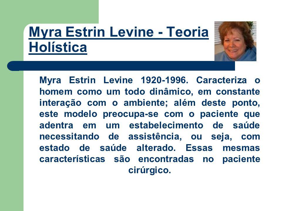Em seu modelo conceitual, Levine desenvolveu quatro princípios de conservação: de energia, da integridade estrutural, da integridade pessoal e da integridade social do paciente.