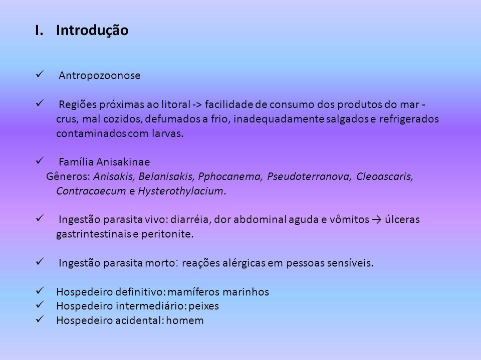 VIII.Profilaxia Evitar a ingestão de peixes e frutos do mar crus ou mal cozidos.