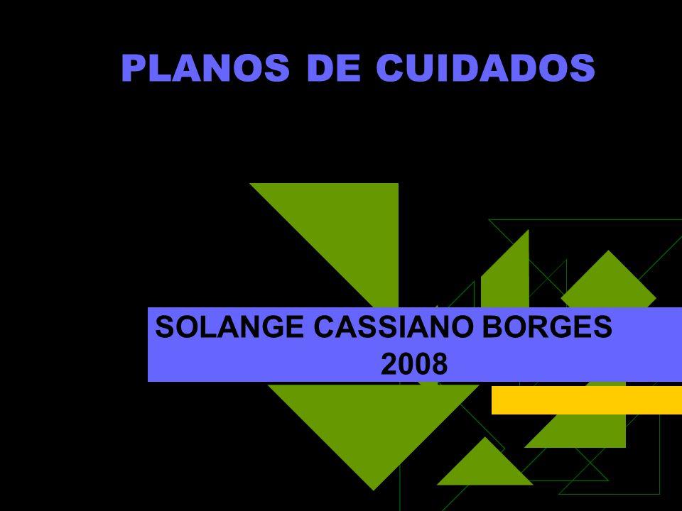 PLANOS DE CUIDADOS SOLANGE CASSIANO BORGES 2008