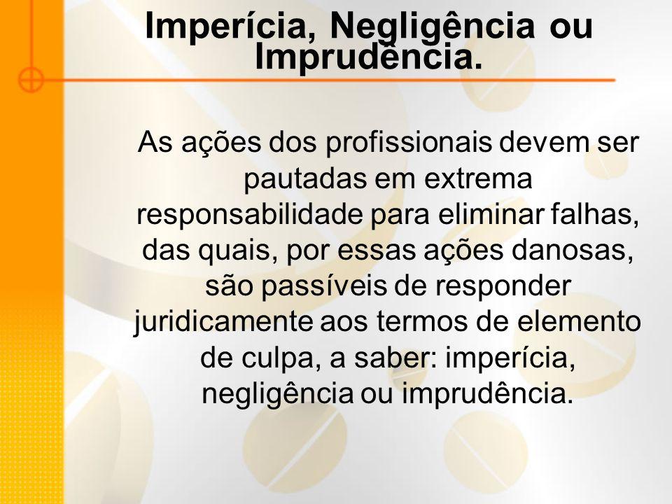 Imperícia, Negligência ou Imprudência.