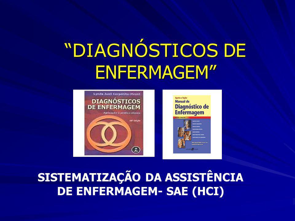 DIAGNÓSTICOS DE ENFERMAGEM DIAGNÓSTICOS DE ENFERMAGEM SISTEMATIZAÇÃO DA ASSISTÊNCIA DE ENFERMAGEM- SAE (HCI)