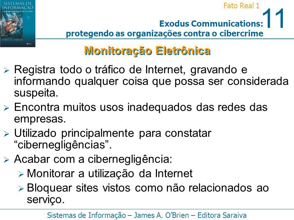 11 Fato Real 1 Sistemas de Informação – James A. OBrien – Editora Saraiva Exodus Communications: protegendo as organizações contra o cibercrime Regist
