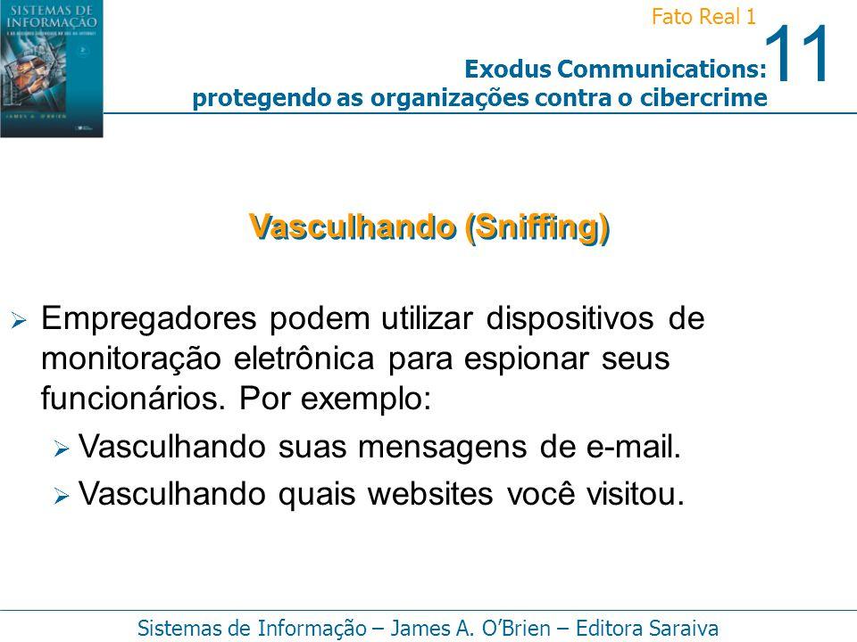 11 Fato Real 1 Sistemas de Informação – James A. OBrien – Editora Saraiva Exodus Communications: protegendo as organizações contra o cibercrime Empreg