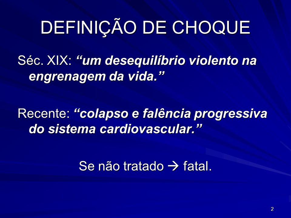 13 TIPOS DE CHOQUE 1.Hemorrágico; 2. Neurogênico; 3.