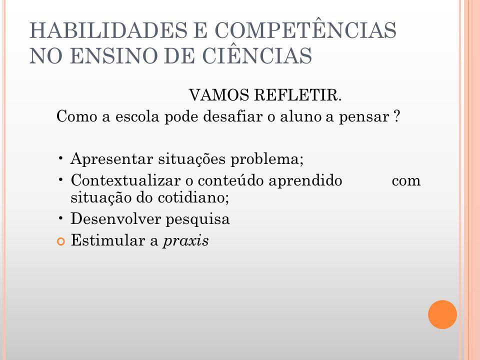 FORMAÇÃO DA COMPETÊNCIAS A capacidade da pessoa em mobilizar suas habilidades (saber fazer), seus conhecimentos (saber) e suas atitudes (saber ser) pa