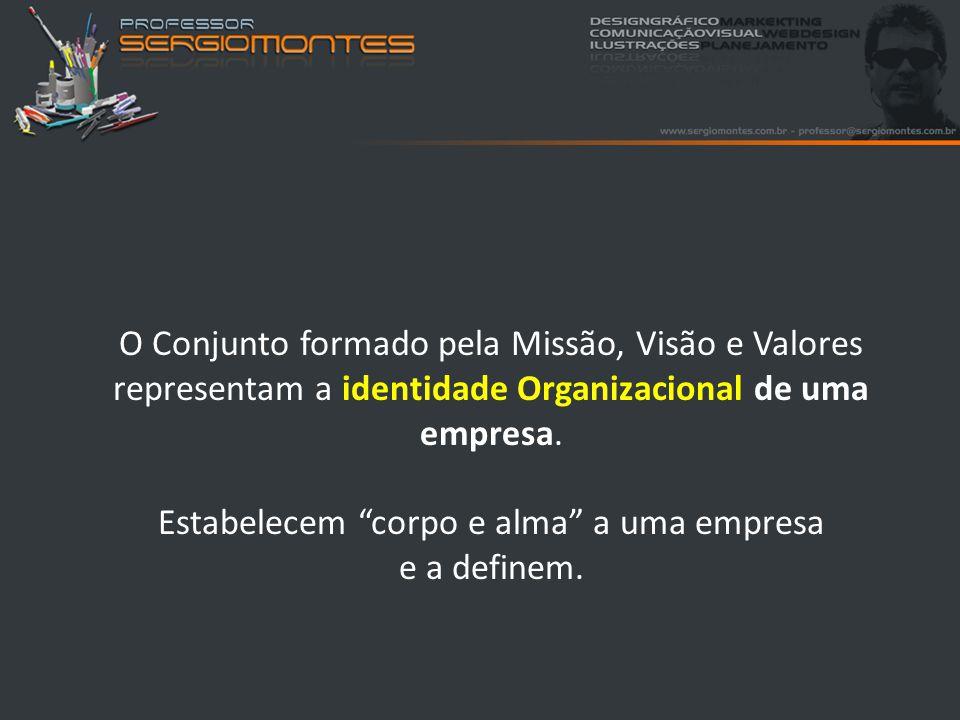 Missão: É a finalidade da existência de uma organização.
