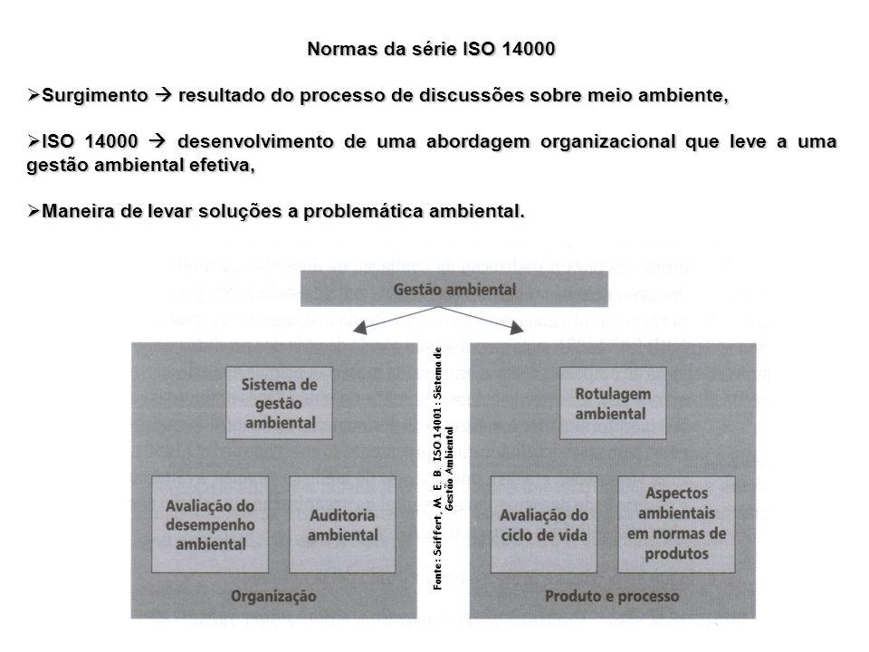 Normas da série ISO 14000 Surgimento resultado do processo de discussões sobre meio ambiente, Surgimento resultado do processo de discussões sobre mei