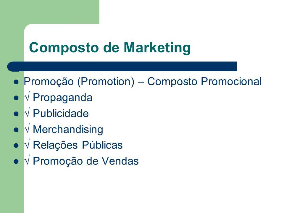 Composto de Marketing Promoção (Promotion) – Composto Promocional Propaganda Publicidade Merchandising Relações Públicas Promoção de Vendas