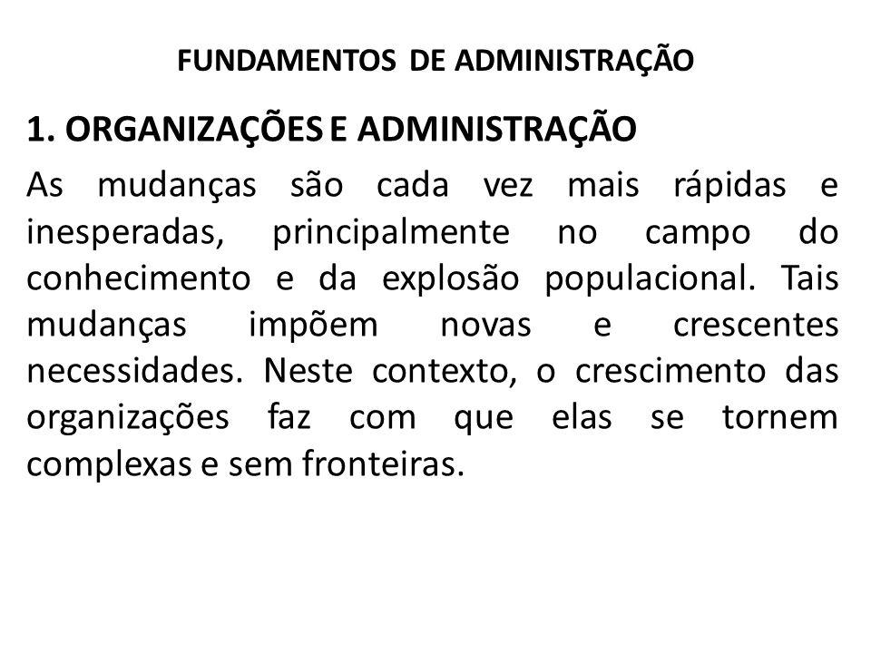 FUNDAMENTOS DE ADMINISTRAÇÃO 1.