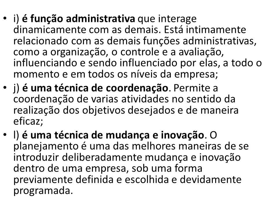 i) é função administrativa que interage dinamicamente com as demais.