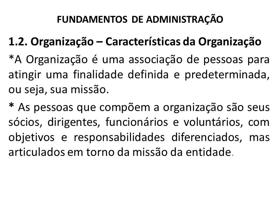 FUNDAMENTOS DE ADMINISTRAÇÃO 1.2.