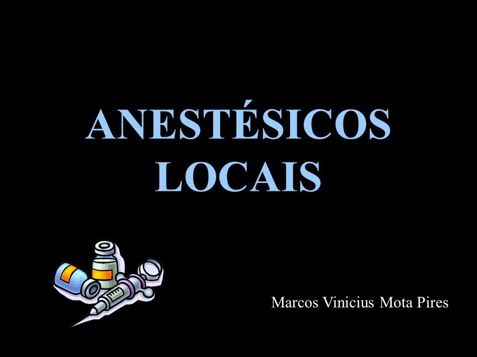 Anestésicos Locais Técnicas de analgesia/anestesia local Analgesia/ Anestesia Intravenosa (Bier) -Punção venosa (cefálica / safena) distal -Saída do sangue -Atadura de Esmarch (vetrap) -Garrote e retirada da faixa -Anestésico: lidocaína (5mg/Kg) sem vaso !!!