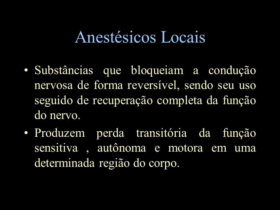 Anestésicos Locais Farmacocinética Absorção: a)Local injeção (IV> traqueal> intercostal> peridural, plexobraquial, subaracnóide>subcutâneo) b)Dose c)Presença de vasoconstritor (circulação terminal) d)Caract.
