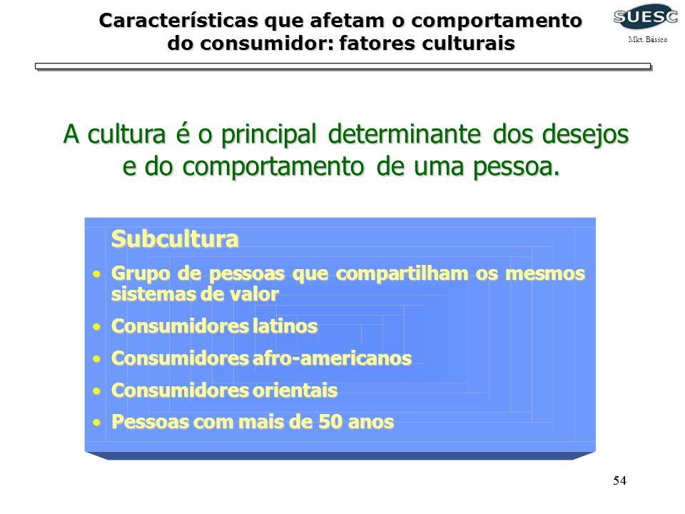 54 Subcultura Subcultura Grupo de pessoas que compartilham os mesmos sistemas de valorGrupo de pessoas que compartilham os mesmos sistemas de valor Co