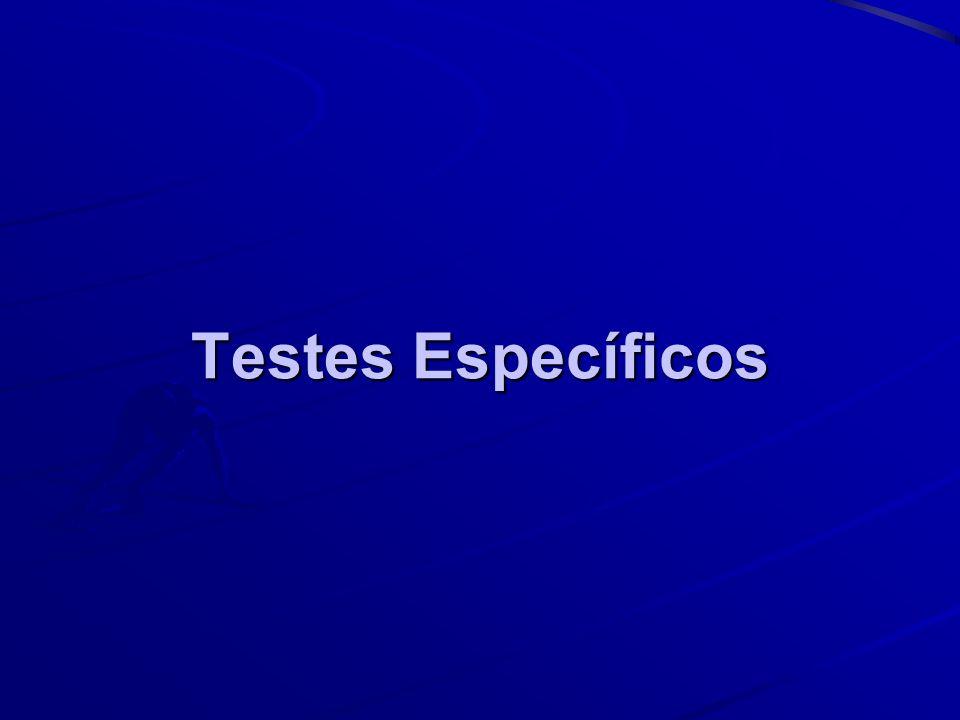 Testes Específicos