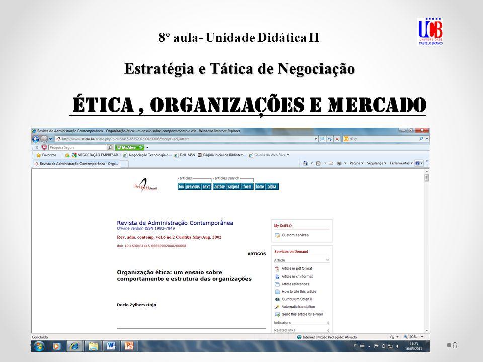 9 8º aula- Unidade Didática II Estratégia e Tática de Negociação o sucesso nas negociações