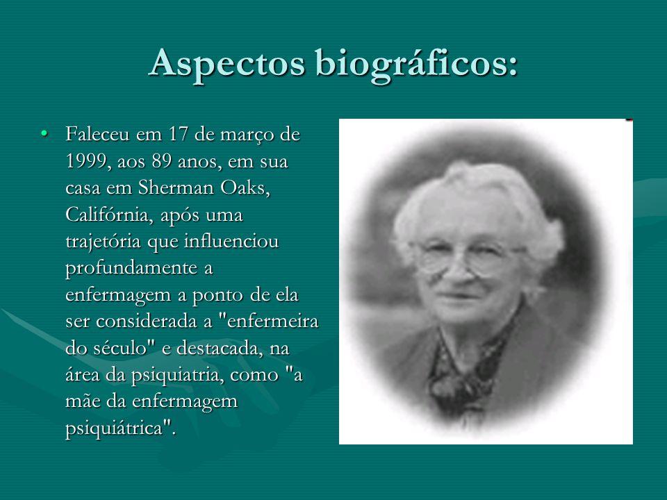 Aspectos biográficos: Faleceu em 17 de março de 1999, aos 89 anos, em sua casa em Sherman Oaks, Califórnia, após uma trajetória que influenciou profun