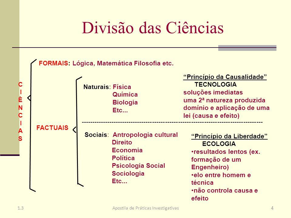 Positivismo Lógico Ciências formais: utilizam o método dedutivo.