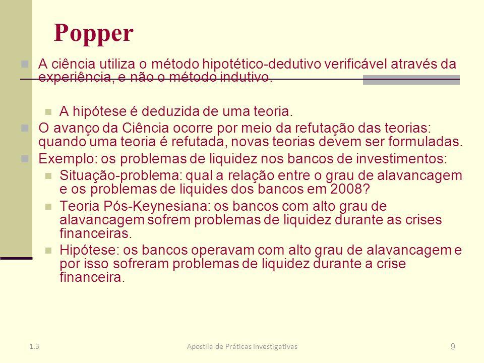 O Tema Pesquisas na área de gestão: utilizam o método Hipotético-dedutivo proposto por Popper.