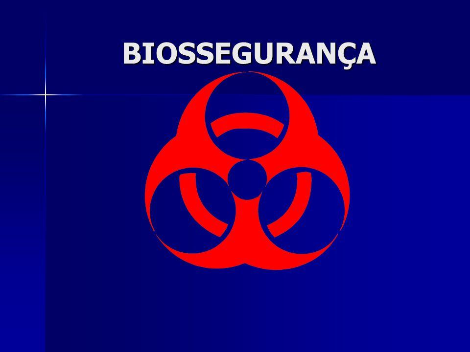 BIOSSEGURANÇA RISCOS BIOLÓGICOS Grupo 3 de risco: Grupo 3 de risco: Nível de Biossegurança 3 Risco individual elevado e comunitário baixo.
