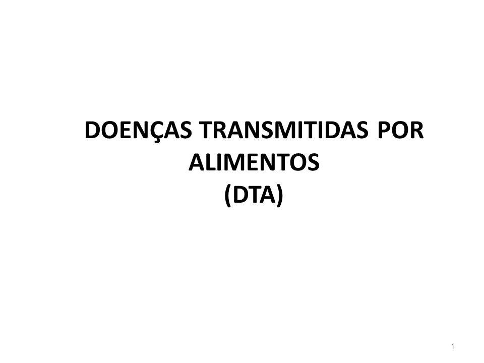 Escola de Ciências da Saúde Curso: Nutrição DOENÇAS TRANSMITIDAS POR ALIMENTOS (DTA) 1