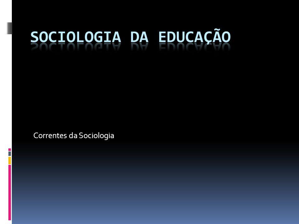 Correntes da Sociologia