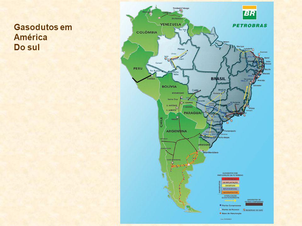 Gasodutos em América Do sul