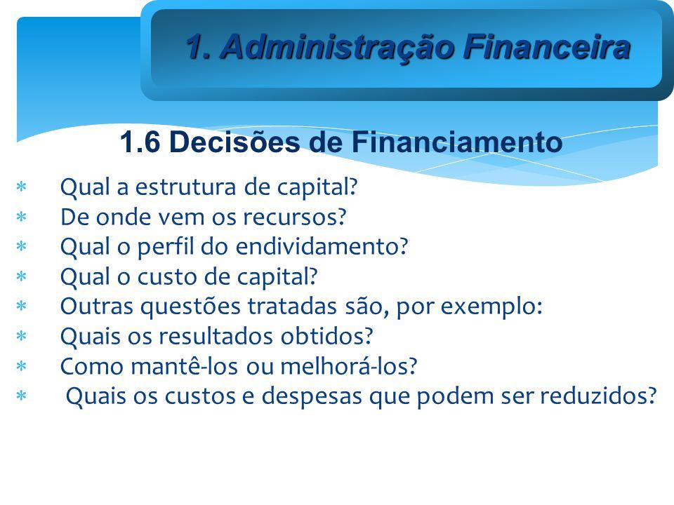 Qual a estrutura de capital.De onde vem os recursos.