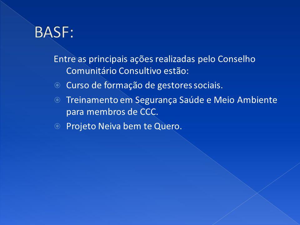 Entre as principais ações realizadas pelo Conselho Comunitário Consultivo estão: Curso de formação de gestores sociais. Treinamento em Segurança Saúde