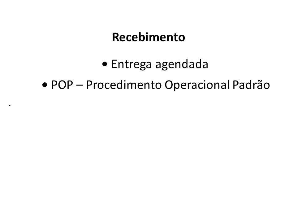 Almoxarifado Recebimento Entrega agendada POP – Procedimento Operacional Padrão.