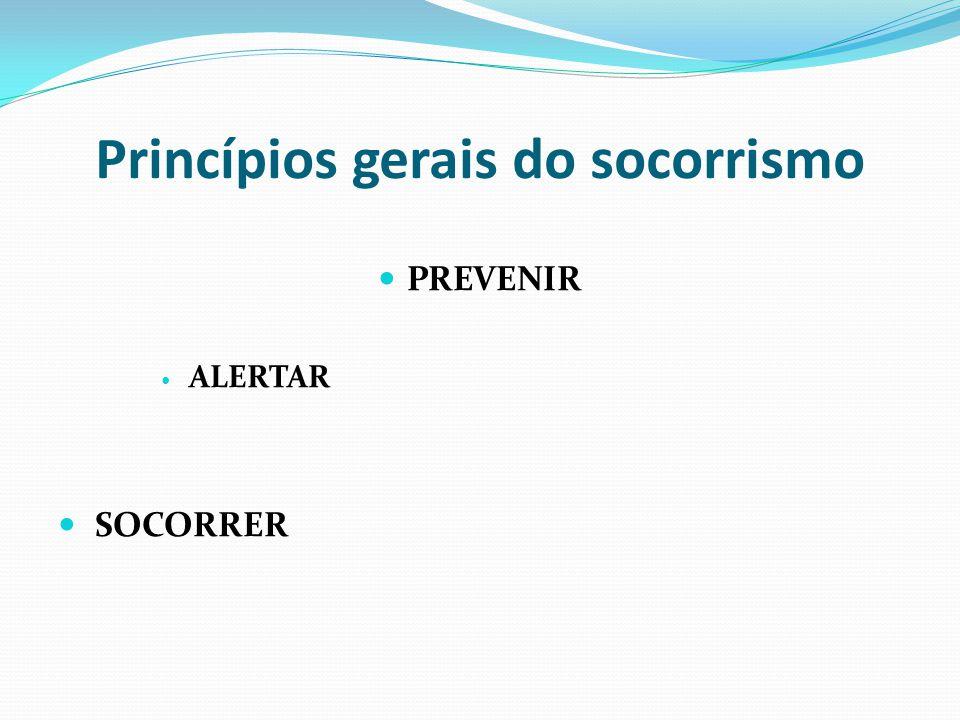 Princípios gerais do socorrismo PREVENIR ALERTAR SOCORRER