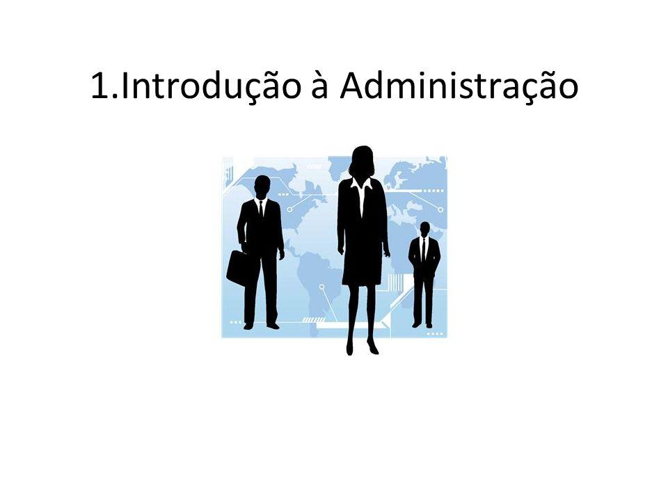 Conteúdo 1.Conceito de Administração 2. Funções do Administrador 3.
