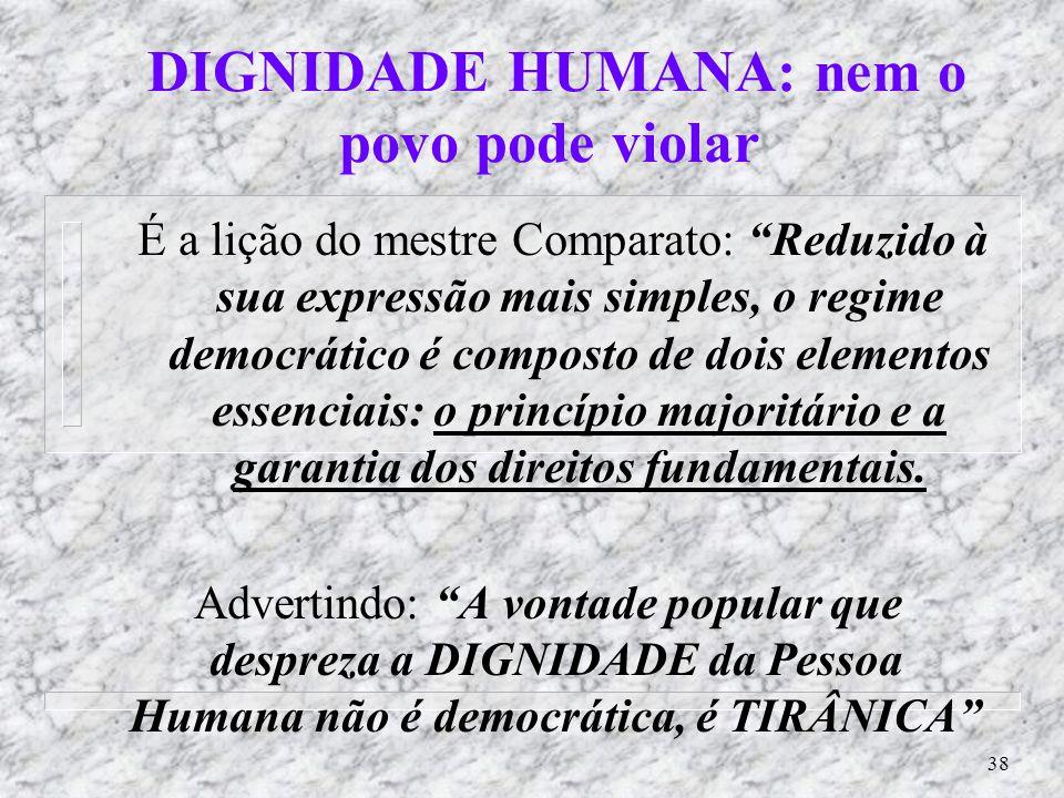 37 O ´mito´ da Democracia Racial: n A visão da democracia racial antes de ser ´mito´. (ABDIAS ao I Congresso Negro Brasileiro, em agosto/1950): n Obse