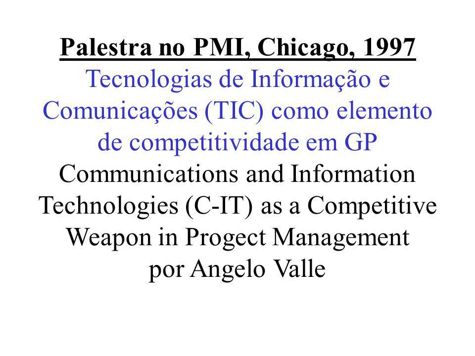 Palestra no XVIII Congress on Industrial Engineering, 1999 Ambientes Colaborativos para Desenvolvimento de Projetos por Angelo Valle
