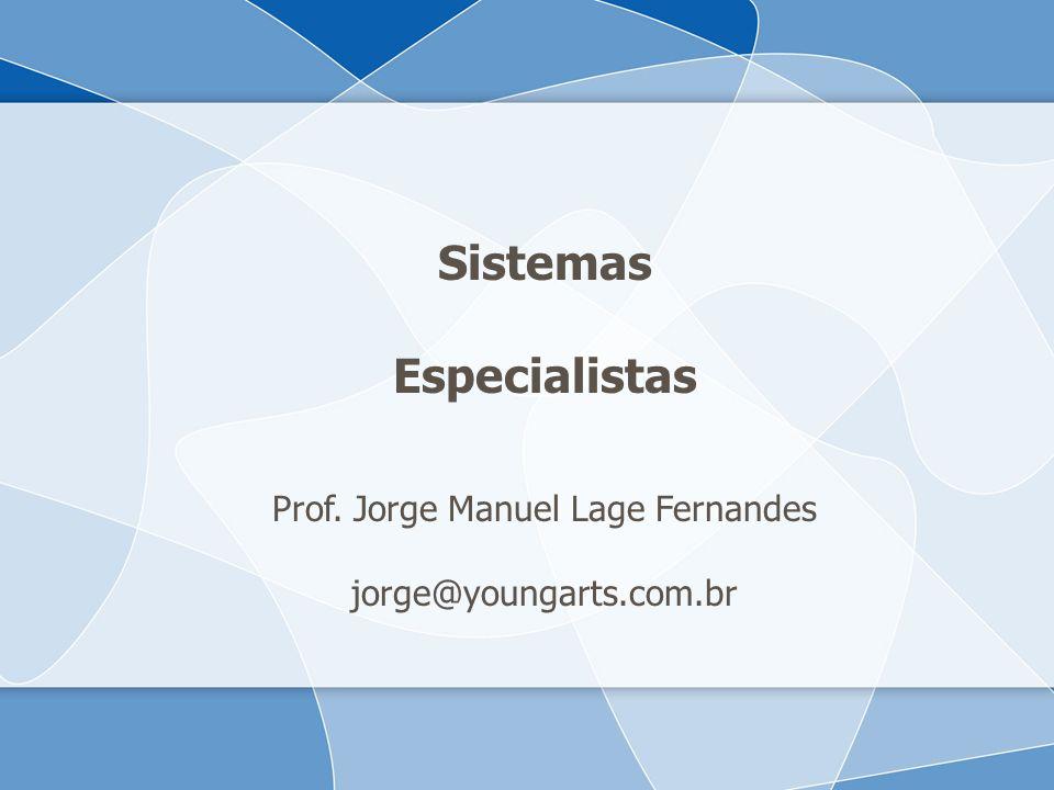 Sistemas Especialistas Prof. Jorge Manuel Lage Fernandes jorge@youngarts.com.br