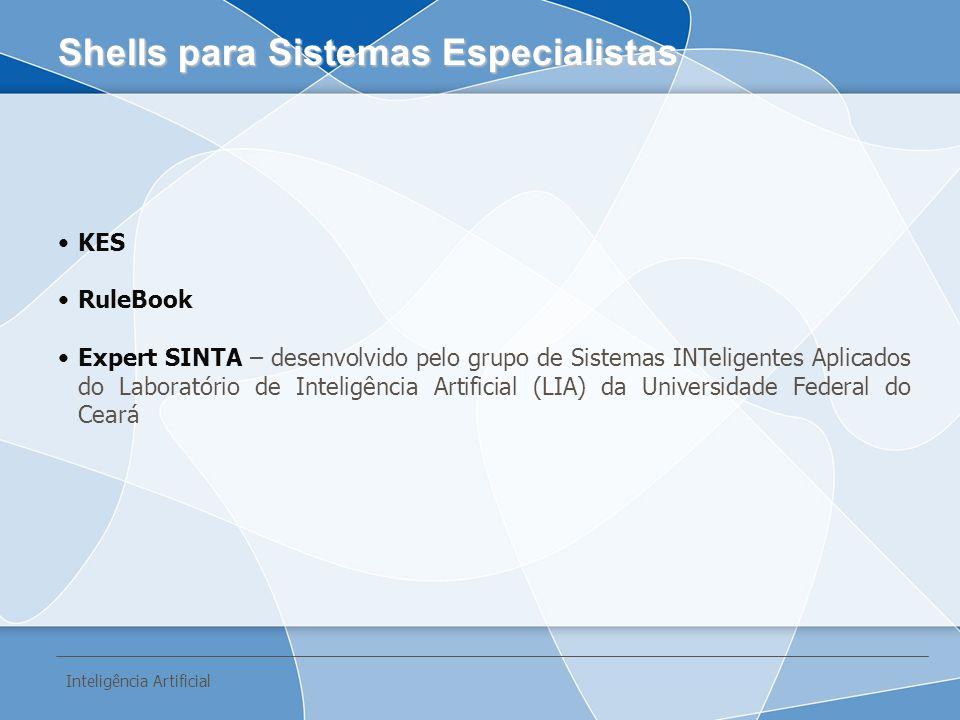 KES RuleBook Expert SINTA – desenvolvido pelo grupo de Sistemas INTeligentes Aplicados do Laboratório de Inteligência Artificial (LIA) da Universidade