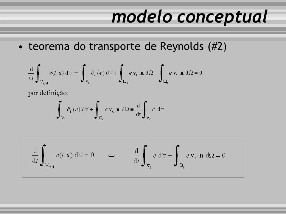 modelo conceptual teorema do transporte de Reynolds (#2) por definição:
