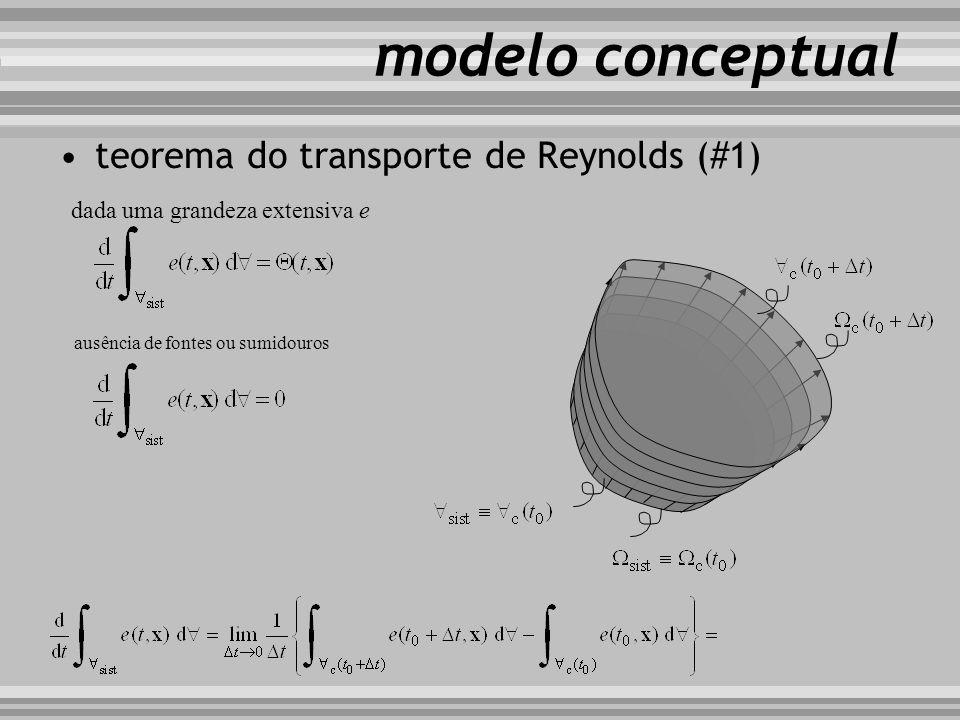 teorema do transporte de Reynolds (#1) modelo conceptual ausência de fontes ou sumidouros dada uma grandeza extensiva e