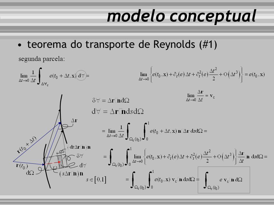 modelo conceptual teorema do transporte de Reynolds (#1) segunda parcela: