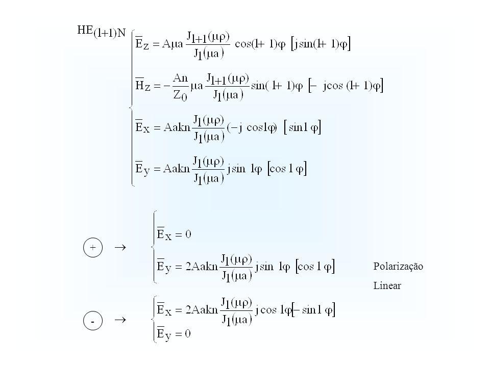 + - Polarização Linear