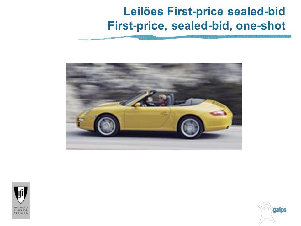 Leilões First-price sealed-bid First-price, sealed-bid, one-shot