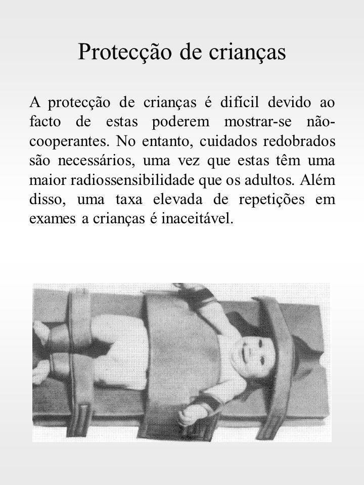 Protecção de crianças A protecção de crianças é difícil devido ao facto de estas poderem mostrar-se não- cooperantes. No entanto, cuidados redobrados