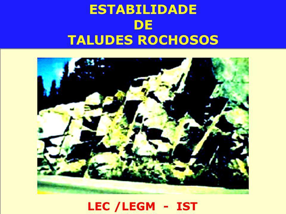 ESTABILIDADE DE TALUDES ROCHOSOS LEC /LEGM - IST