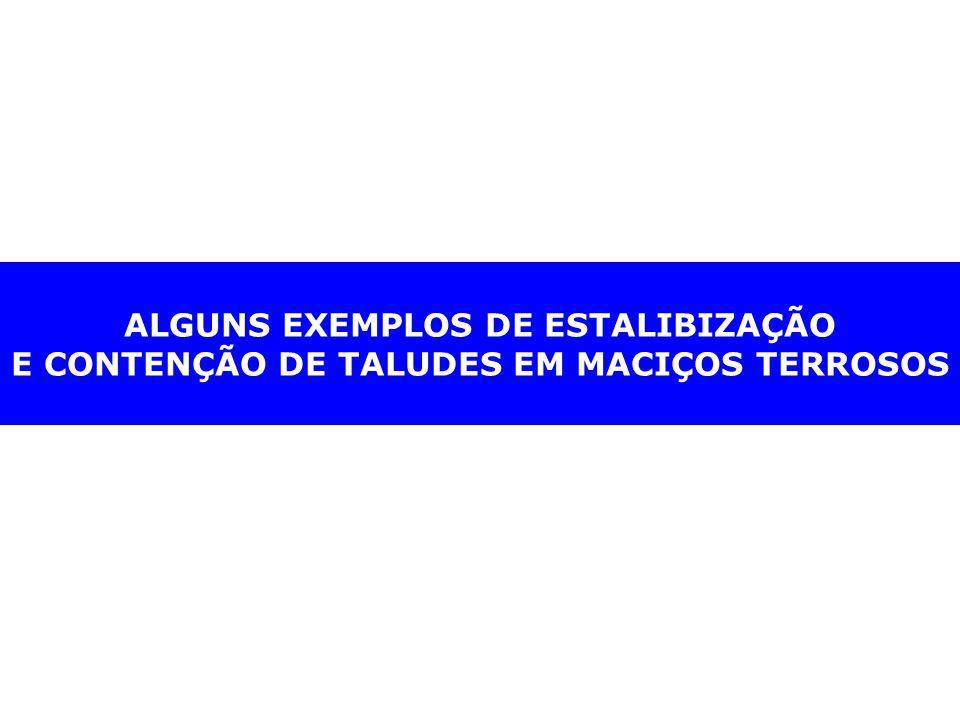ALGUNS EXEMPLOS DE ESTALIBIZAÇÃO E CONTENÇÃO DE TALUDES EM MACIÇOS TERROSOS