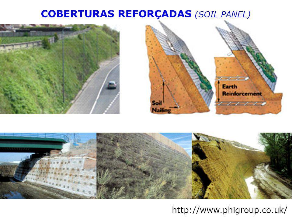 http://www.phigroup.co.uk/ COBERTURAS REFORÇADAS (SOIL PANEL)