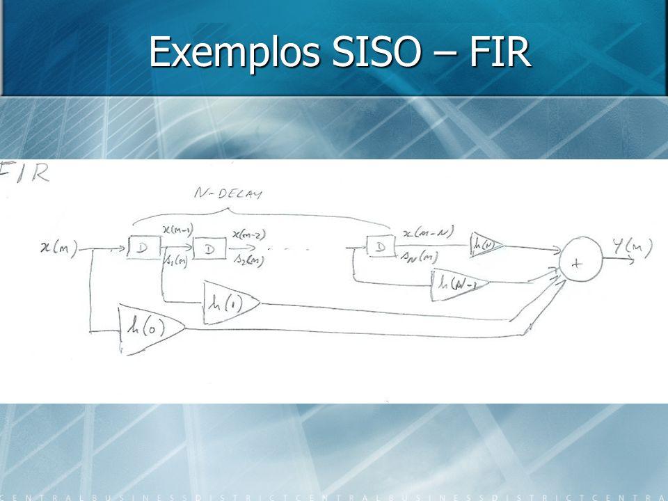 Exemplos SISO – FIR
