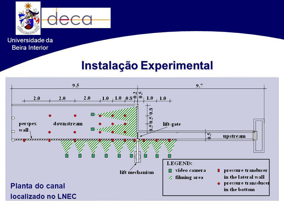Instalação Experimental Planta do canal localizado no LNEC Universidade da Beira Interior