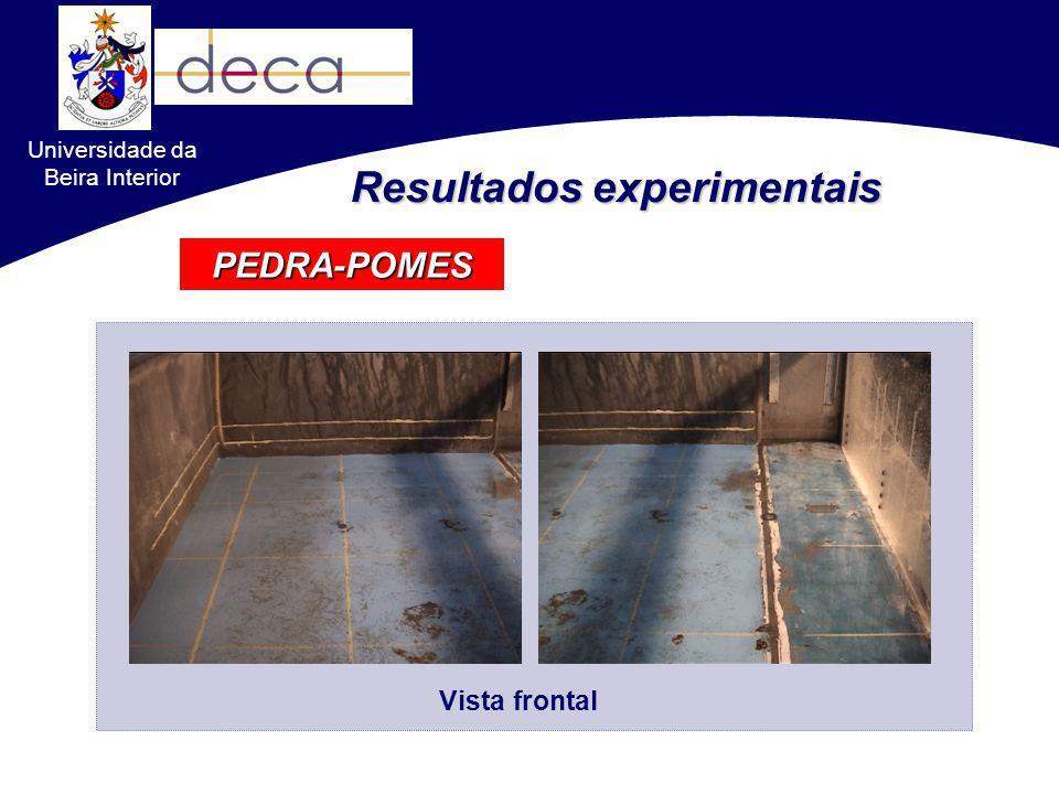PEDRA-POMES Resultados experimentais Vista frontal