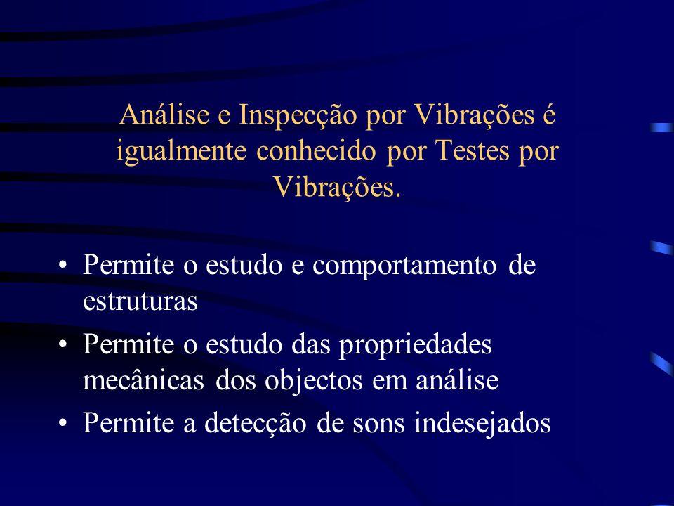Análise e Inspecção por Vibrações é igualmente conhecido por Testes por Vibrações. Permite o estudo e comportamento de estruturas Permite o estudo das