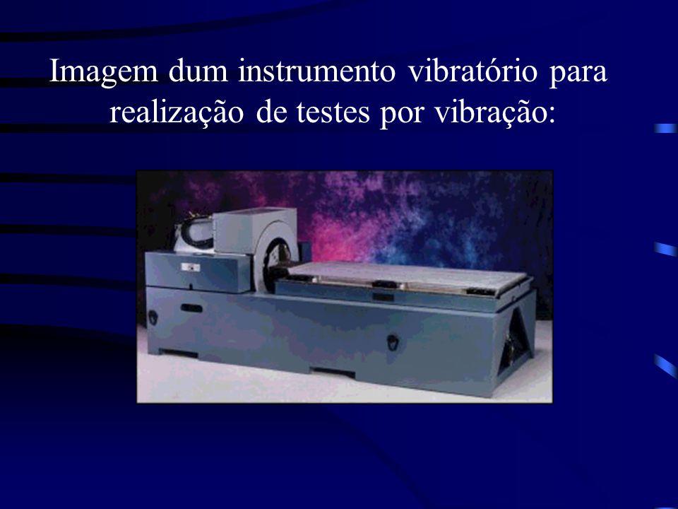 Imagem dum instrumento vibratório para realização de testes por vibração: